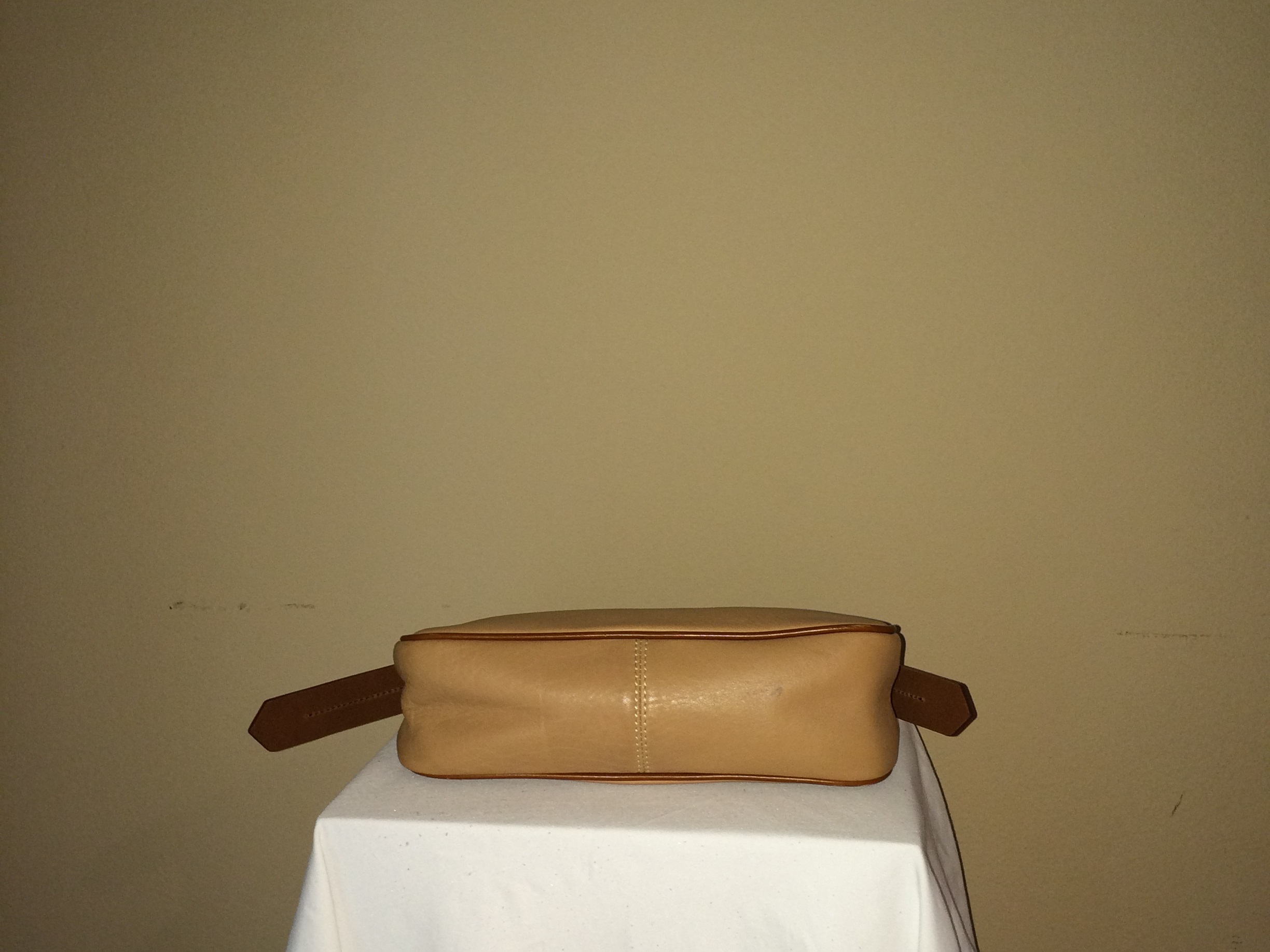 Camel Colored small Dooney and Bourke - bottom
