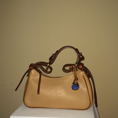 Camel Colored small Dooney and Bourke - front