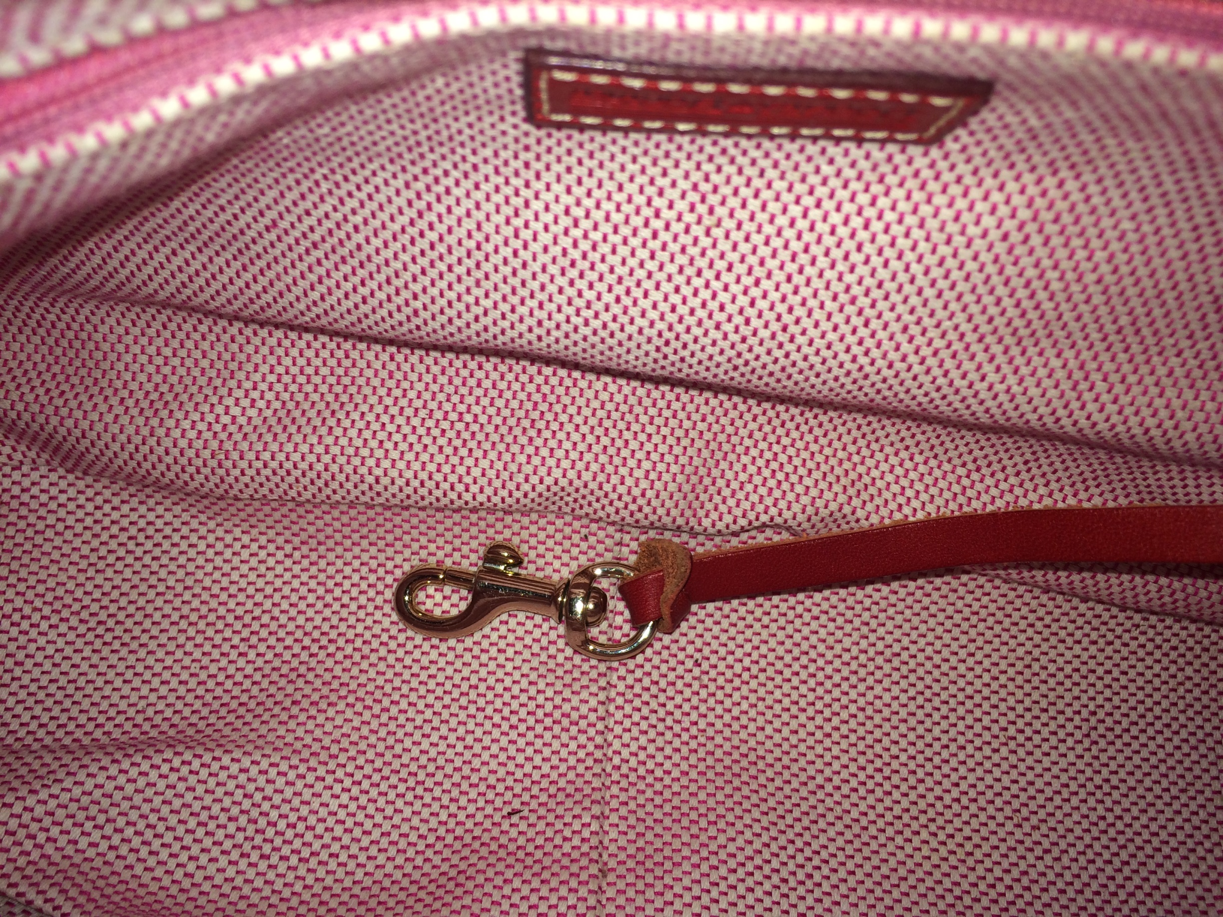 Camel Colored small Dooney and Bourke - inside