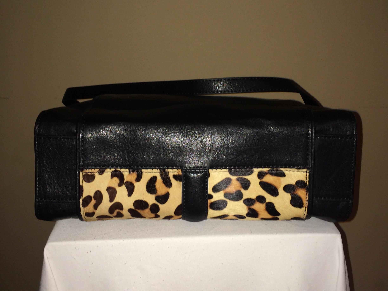 Leopard/Black Zara Tote - bottom