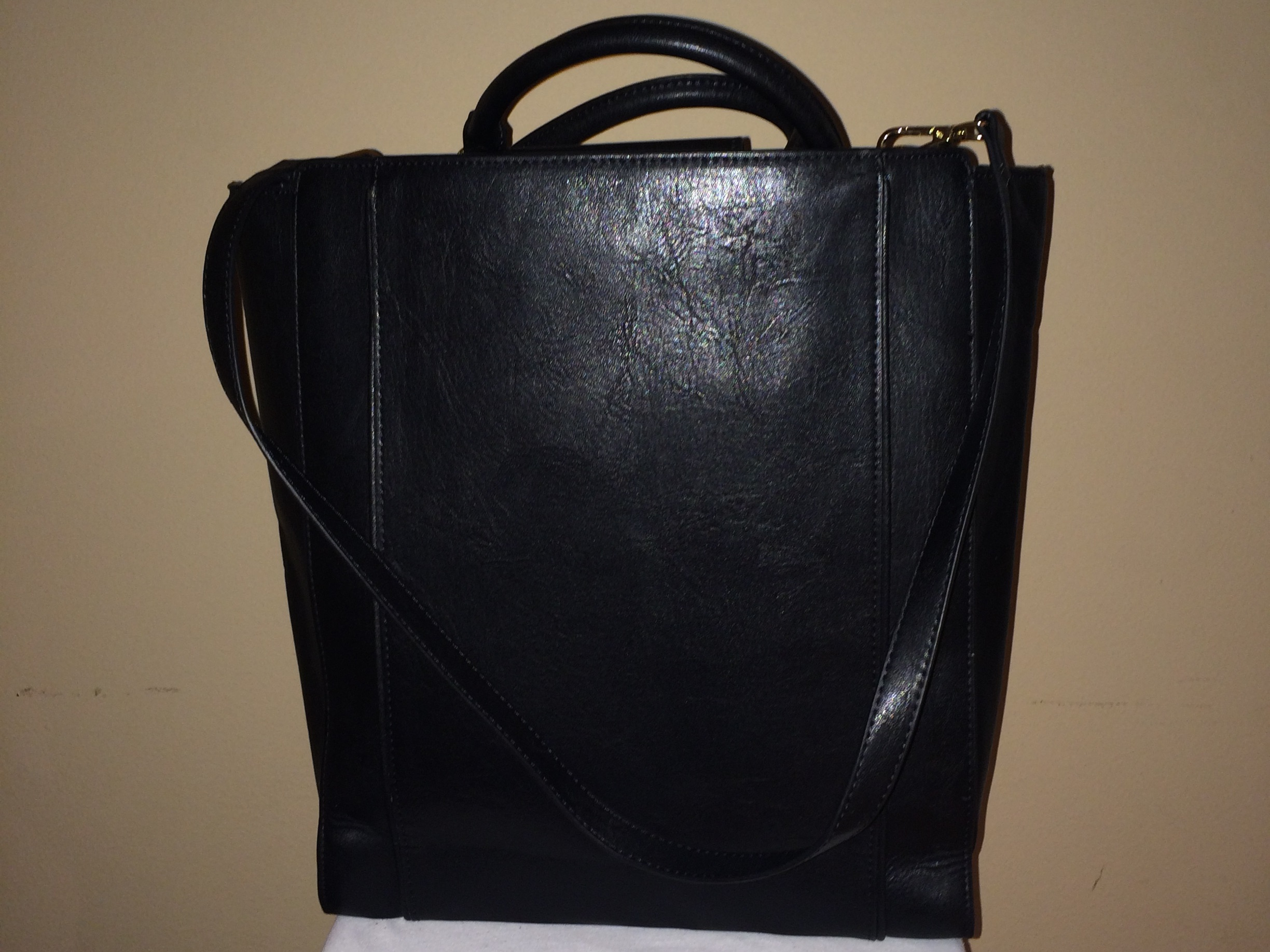 Leopard/Black Zara Tote - rear