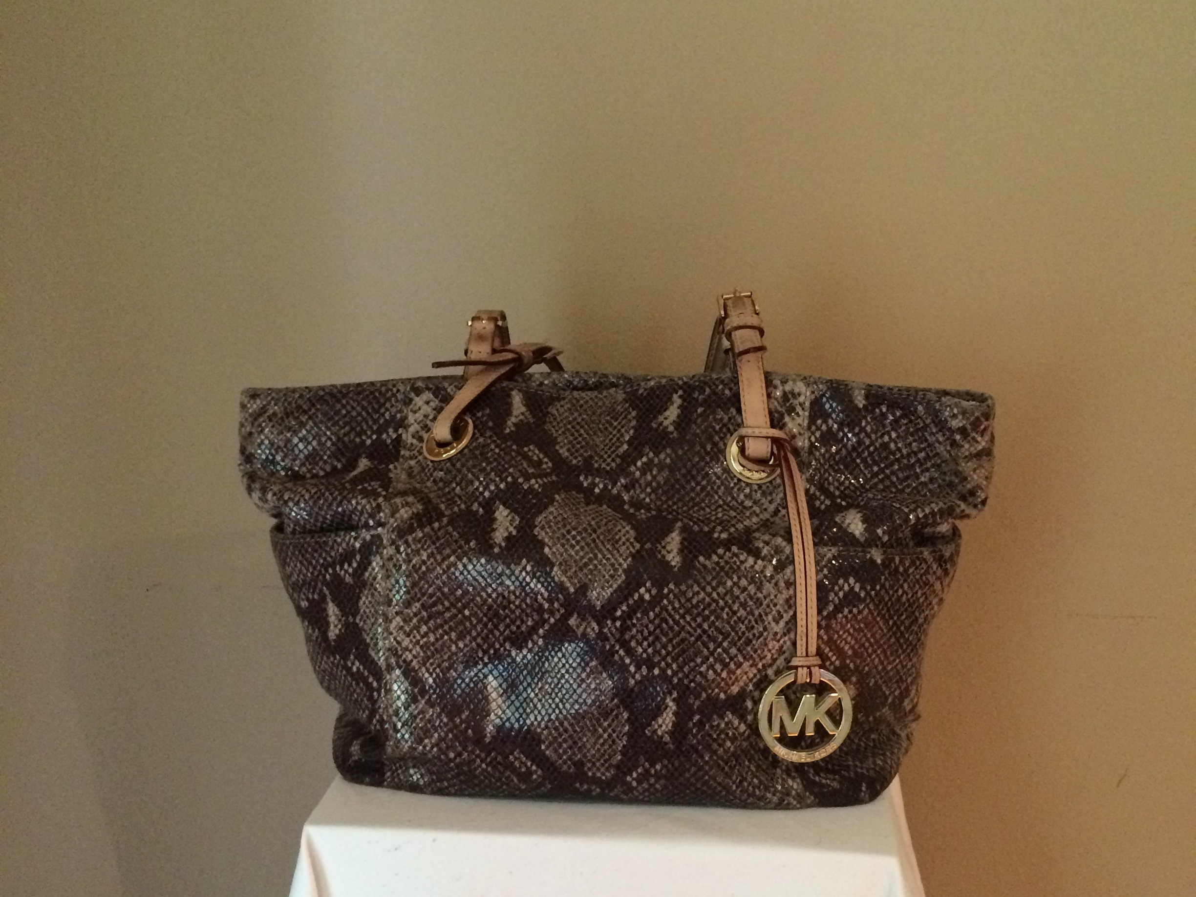 Python Michael Kors Tote - front