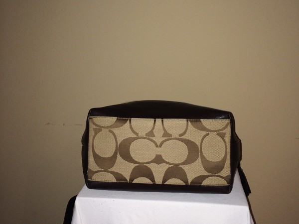 Tan and Brown Coach - bottom